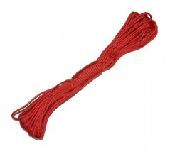 Paracord 7 core. Capacity:550lbs, red